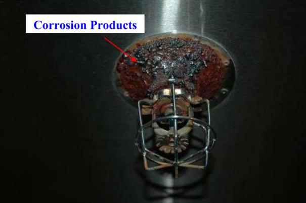 Corrosion galvanique sprinkler