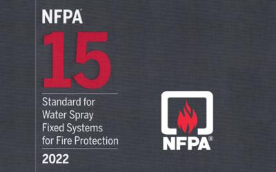 Norme NFPA 15, standard des systèmes fixes de pulvérisation d'eau